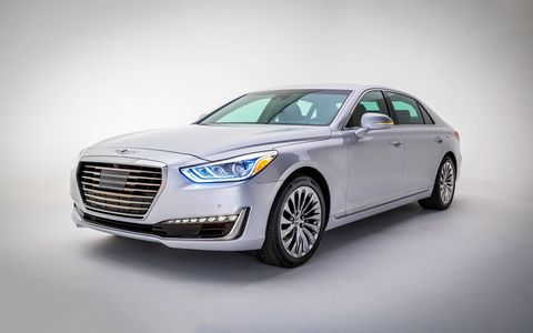 The Genesis G90 is the first new car from Hyundai's luxury Genesis division.