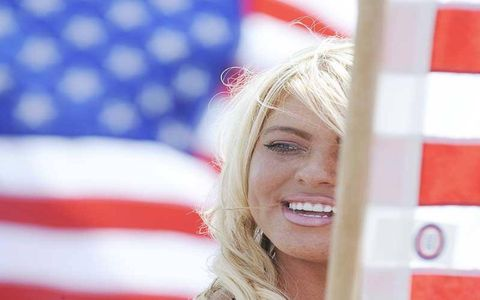 Stars and stripes...and blondes.