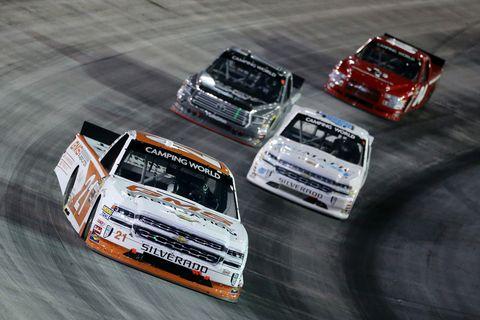 Sights from the NASCAR Camping World Truck Series action at Bristol Motor Speedway Thursday August 16, 2018.