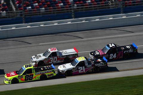 Sights from the NASCAR action at Talladega Superspeedway, Saturday Oct. 13, 2018.
