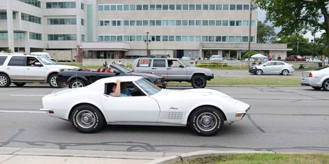 Friday, August 18 on Woodward Avenue, the day before the official 2017 Woodward Dream Cruise.