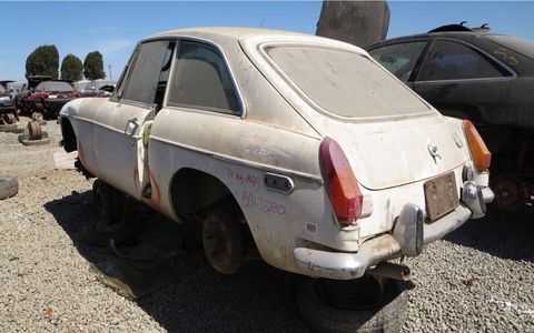 If you think the design looks Italian, you're right. Pininfarina designed the MGB-GT hatchback body.