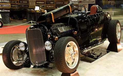 Harry Willet of Orland Park, Illinois, entered his 1932 Ford Roadster which made it into the Great Eight.
