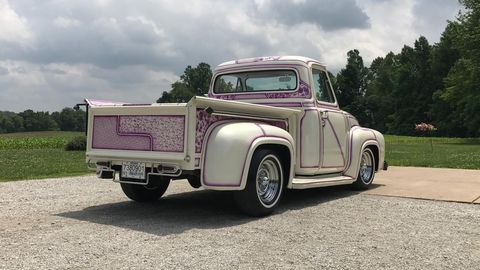 Mike Brown's 1953 Ford F100 exudes the over-the-top paint and upholstery work of a 1960s custom truck.