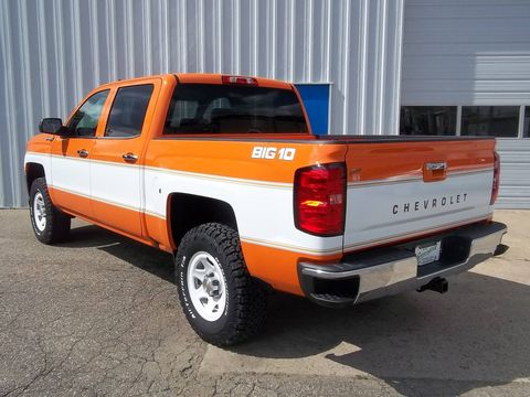 Using his father's 1973 Chevy pickup as inspiration, Blake Greenfield created a modern version of the Big 10 special-edition pickups of the late 1970s.