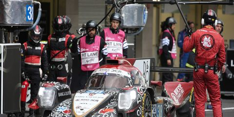 The No. 38 Jackie Chan DC Racing Oreca nearly pulled off the upset win for an LMP2 car at Le Mans.