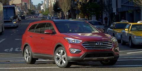 The 2014 Hyundai Santa Fe Limited comes in at a base price of $36,305 with our tester topping off at $41,290.