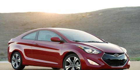 The 2014 Hyundai Elantra Coupe looks pretty handsome.