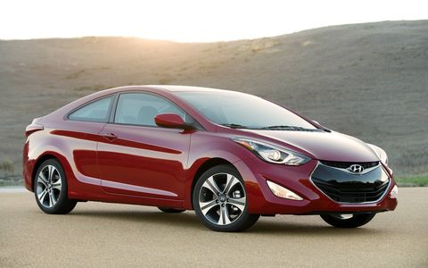 The 2014 Hyundai Elantra Coupe looks pretty handsome.