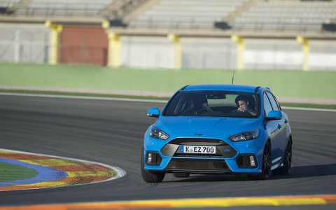 "Ford calls this the third-generation Focus RS and says it ""pioneers innovative Ford Performance All Wheel Drive with Dynamic Torque Vectoring"" for ""class-leading cornering speed and limit handling."""