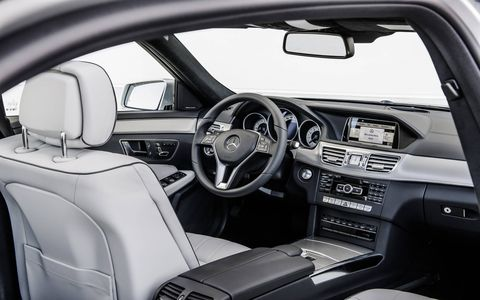 The 2014 Mercedes-Benz E550 4Matic sedan comes in at a base price of $62,325 with our tester topping off at $77,345.
