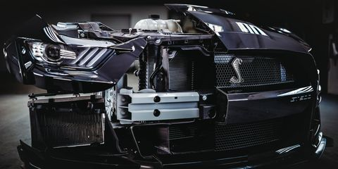 The 2020 Ford Mustang Shelby GT500 got a bunch of wind tunnel time during development.