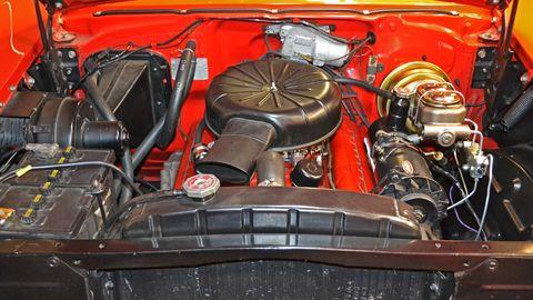 Vehicle, Engine, Auto part, Car, Motor vehicle, Fuel line, Automotive exterior, Automotive engine part,
