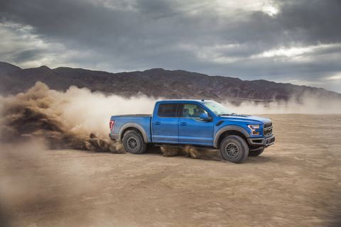 The 2019 Ford F-150 Raptor gets new, adaptable Fox shocks and a new Trail Control program for even more off-road ability.