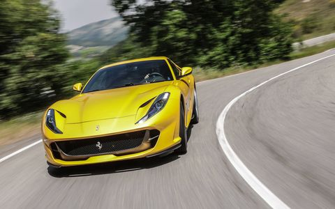 The 812 Superfast produces a staggering 800 hp from its 6.5-liter V12.