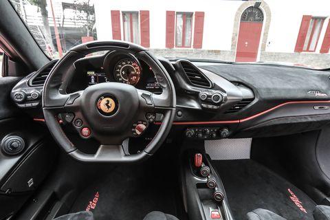2019 Ferrari 488 Pista Interior.