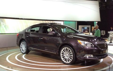 The 2014 Buick LaCrosse gets a new interior design, more safety and technology features, and a general warming over of the exterior.