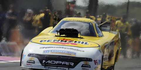 Matt Hagan is third in the NHRA Funny Car standings after his win on Sunday in Texas.