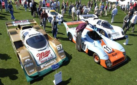 As the honored driver, Derek Bell was reunited with a number of his prior rides, including the Lowenbrau Porsche 962, Rothmans Porsche 956 Group C, Miller High Life Porsche 962, Gulf Mirage GR8, Audi S4, Mirage M6 and Porsche 935 K3.