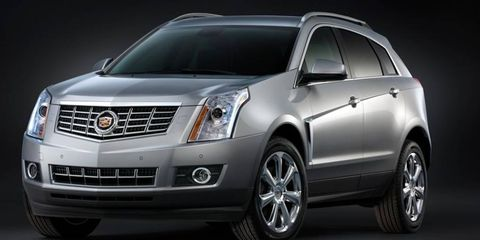 The 2013 Cadillac SRX gets a restyled grille.
