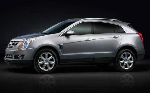 A side view of the 2013 Cadillac SRX.