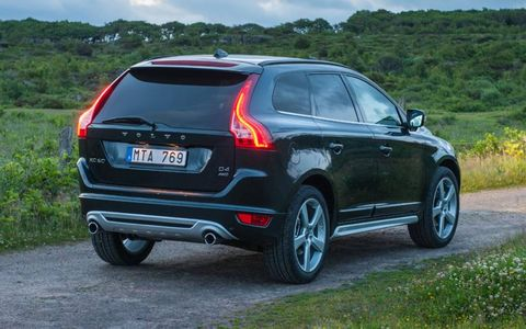 The power liftgate is an added benefit when accessing the enormous cargo area in the 2013 Volvo XC60 T6.