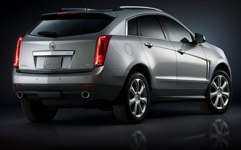 A rear view of the 2013 Cadillac SRX.