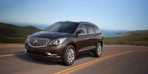 The refreshed 2013 Buick Enclave has an updated front-end and interior features.