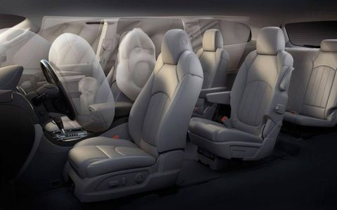 The 2013 Buick Enclave features a center stack air bag to help protect front seat passengers.