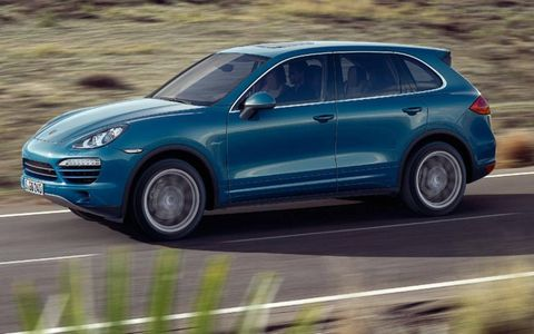 The 2013 Porsche Cayenne diesel is equipped with all-wheel drive and an eight-speed automatic transmission.