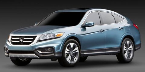 A front angle of the Honda Crosstour concept.