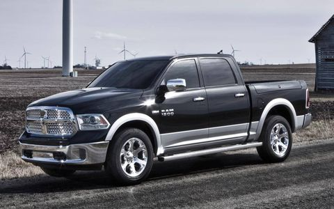 A front view of the 2013 Ram pickup.