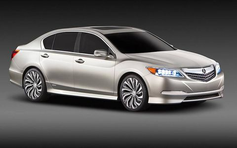 A front view of the Acura RLX Concept.