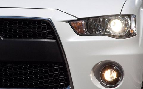 Check out the Evolution-style grille on the Outlander GT Prototype.
