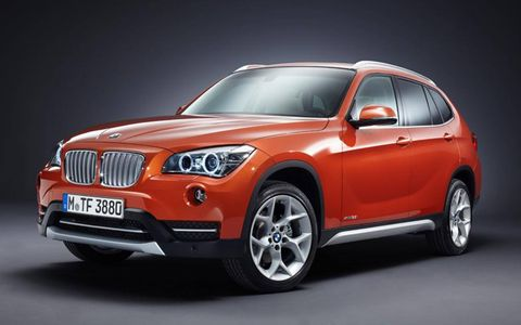 A front view of the 2013 BMW X1.