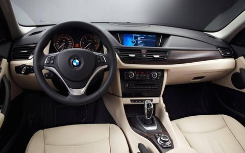 The cabin of the 2013 BMW X1.