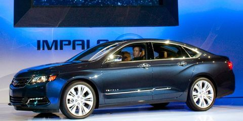 The 2014 Chevrolet Impala debuted at the New York auto show.