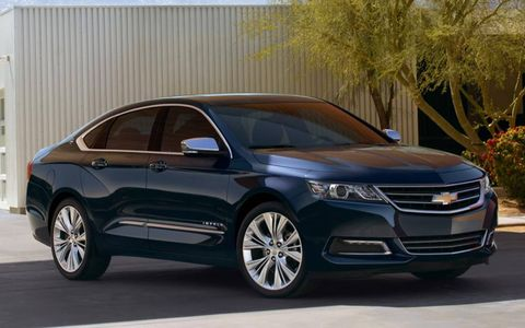 A front view of the 2014 Chevrolet Impala.