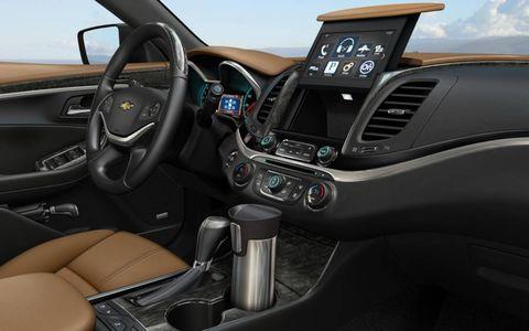 The interior of the 2014 Chevrolet Impala.