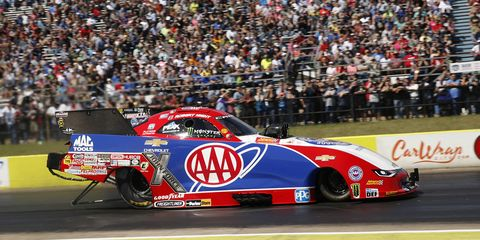 Hight raced to a 3.877-second pass at 332.34 mph to defeat Ron Capps.