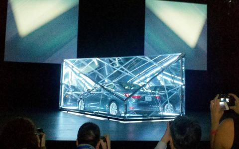 The 2013 Lexus ES 350 unveiling at the New York auto show.