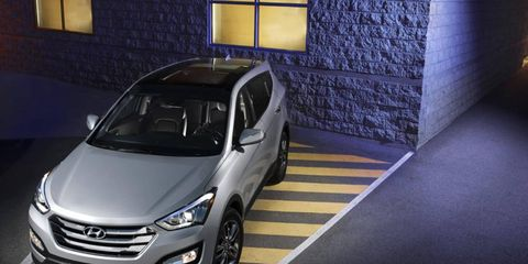 Hyundai introduced the Santa Fe at the New York auto show.
