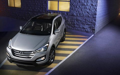 Hyundai introduced the Santa Fe at the New York auto show.