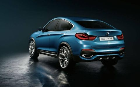 The qualities of a BMW SAV merge with the values of a BMW Coupe in the BMW Concept X4.