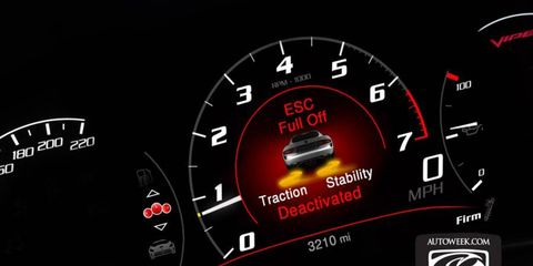 SRT's photo shows the new Viper with traction control fully defeated.