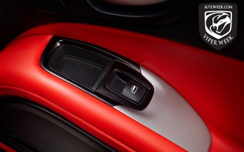 SRT worked with Ferrari supplier Sabelt on the new Viper's interior.