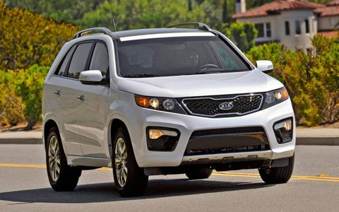 The as-tested price for our 2013 Kia Sorento SX tester is $37,575.