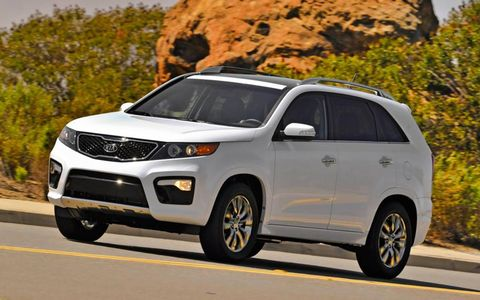 The engine in the 2013 Kia Sorento is decent, and the six-speed automatic transmission is smooth.