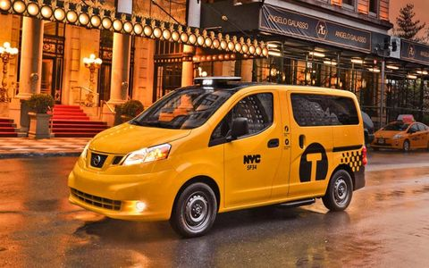 The 2014 Nissan NV200 taxi.