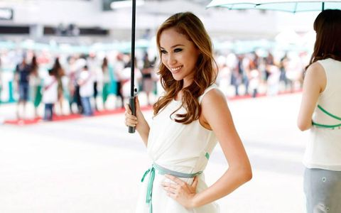 A grid girl at the Malaysian Grand Prix.